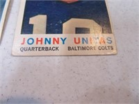 Lot (3) 50's era Football Cards Unitas & Tittle