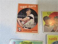 Lot (8) 50's Era Baseball Cards Aaron Maris Etc
