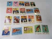 Lot (20) 50's Era Football Sports Cards