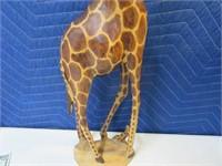 "24"" Wooden Handcarved Giraffe Kenya"