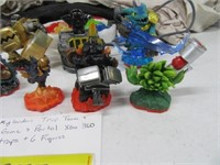 Xbox360 Skylanders Portal w/ 6 figures & 5 traps