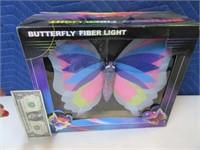 "New Butterfly FiberOptic 12"" NEAT Lamp Decor"