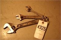 3pcs adjustable wrenches