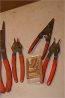 assorted snap ring pliers 6pcs