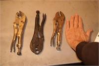 3pcs vice grip brand locking pliers