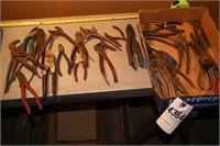 assortment of pliers Nippers & etc 20+pcs