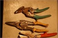 6pcs - tin snips & crimpers