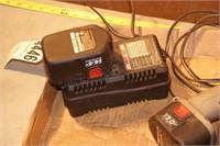 porter cable flashlight charger & batteries 5pcs