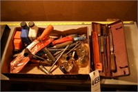 chainsaw files, wrenches, 2 stroke oil & more