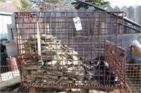 32x40x30 basket - 1/4 full of small slate stone