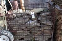 32x40x30 basket - 3/4 full of large slate stone