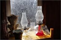 oil lamps & vases 9pcs