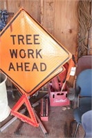 Tree work signs & flags - 7pcs