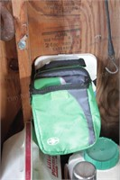 2 coolers, 2 thermos, kneeling pad & lunchbox