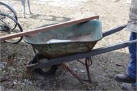 heavy duty steel wheel barrow w/ extra handle