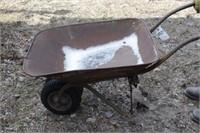 steel wheel barrow w/ dual wheels