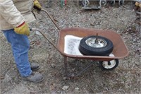 small wheel barrow w/ extra wheel