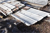 stack of pole barn sheeting