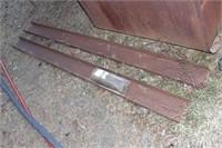 2pcs channel iron, table frame & metal sheet