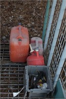 3 gas cans - extra spouts & carry can spouts