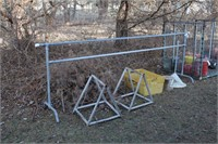 """temporary barrier 11"""" long, metal saw, horses & bn"""