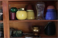 Contents of cabinet - gardening pots