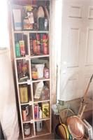 shelf & contents -gardening supplies
