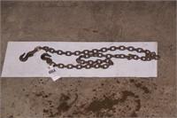 8' chain w/ 2 hooks