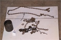 Chain pieces hooks & sections