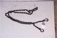 10' chain w/ repair link. has 2 hooks