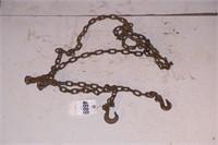 13' chain w/ 2 hooks