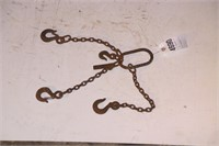 light duty 1' three chain spreader w/ slip hooks