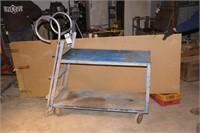 Rolling cart w/ ladder end