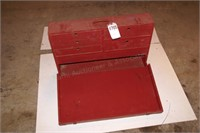 red wood tool box