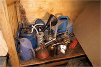 funnels, antifreeze buckets, oil cans & more
