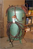 80gal green air tank with hose, & 220v cable