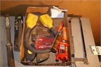 handyman hand tool lot - hacksaw nail puller etc