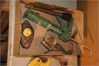 handyman tool lot - pvc cutter, hack saw, scrapers