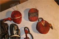 small tie down straps - 3pcs + extra straps