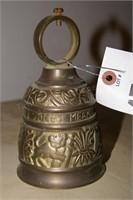 """Brass bell 5"""" tall"""