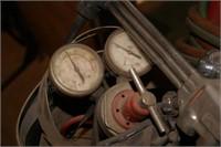 Oxy/acetylene torch set w/ tanks