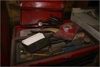 2 tool boxes, 1 metal lower, 1 plastic upper (2pcs