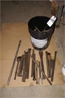 bucket full of LARGE punches, pickle forks etc
