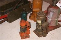 5 bottle jacks (for parts)