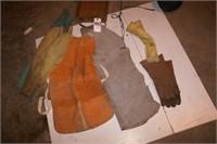 welding protection -shop jacket, gloves etc