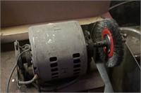 electric motor w/ wire wheel