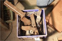"""crate of hitches & parts -  mostly 2"""" ball (4pcs)"""