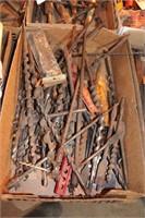 Wood drill bits & brace - over 30pcs