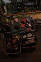 Large electrical lot - power cords, bulbs, etc