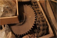 large assortment of sprockets & roller chain